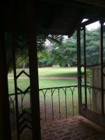tiny patio. huge plantation.