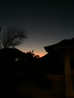sunset from the villas.