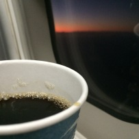 coffee with the rising sun.